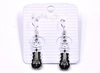 Silver Plated Guitar Earrings