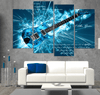 4 Piece Azure Guitar Canvas Art - Artistic Pod Review