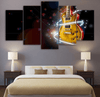 5 Pieces Galaxy Guitar Canvas Art - Artistic Pod Review