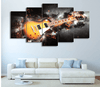 5 Pieces Guitar Storm Canvas Art - Artistic Pod Review
