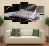 5 Pieces Grizzled Guitar Canvas Art - Artistic Pod Review