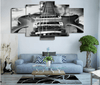 5 Pieces Monochrome Guitar Canvas Art - Artistic Pod Review