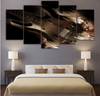 5 Pieces Dark Guitar Canvas Art - Artistic Pod Review