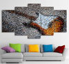 5 Pieces Mosaic Guitar Canvas Art - Artistic Pod Review