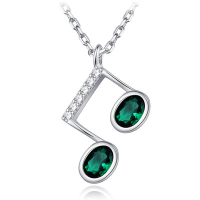 Crystal Beam Note Pendant Necklace - Artistic Pod Review
