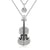 Crystal Violin Pendant Necklace