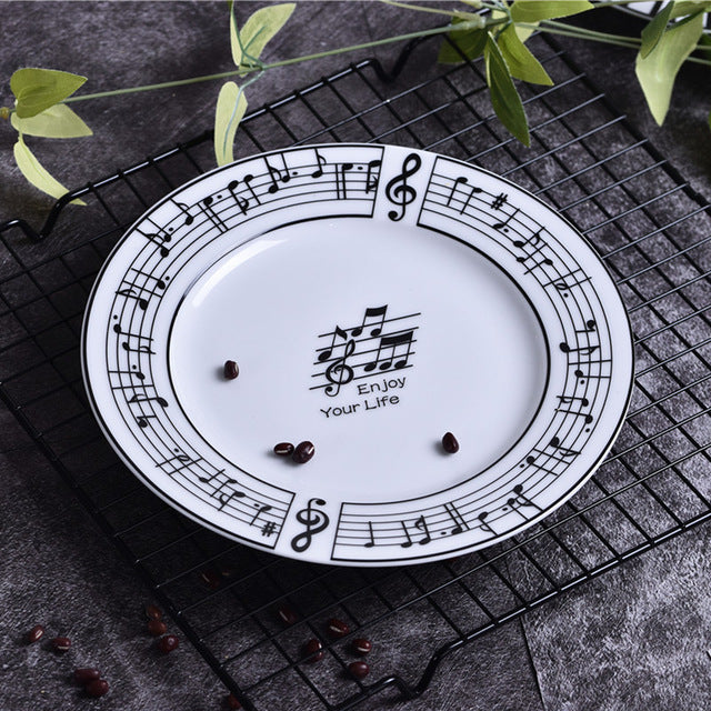 Music Note Plate & Bowl Dinner Set