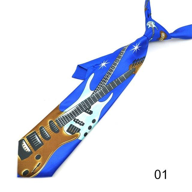 NEW Lots of Diagonal GUITARS Musical Instruments Novelty Necktie M-3