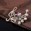 Treble Clef & Note Brooches