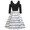 Music Note Vintage Dress