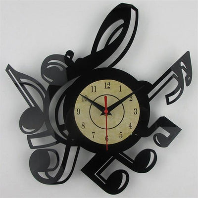 Music Notes Vinyl Wall Clock - Artistic Pod Review