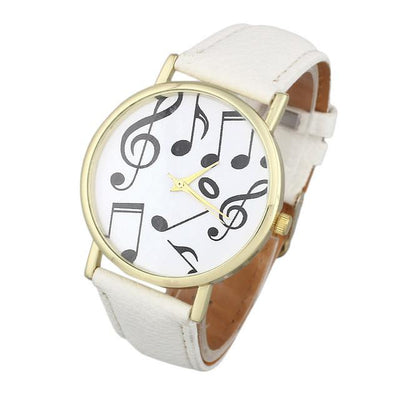 Casual Musical Notes Leather Band Analog Wristwatch - Artistic Pod Review