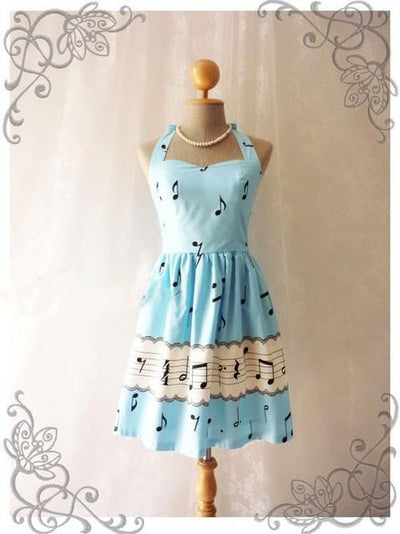 Music Note Halter Dress - Artistic Pod Review