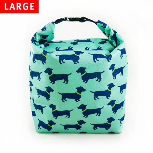 Lunch Bag Large (Dachshund Blue)