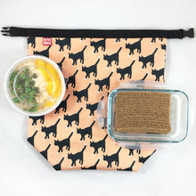 Lunch Bag Large (Cat Peach)