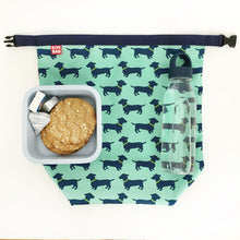 Lunch Bag Large (Dachshund Blue) - KIVIBAG