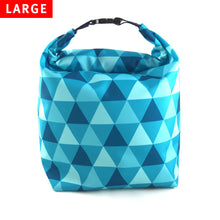 Lunch Bag Large (Triangle Blue)