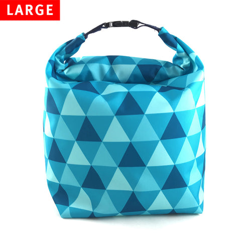 Lunch Bag Large (Triangle Blue) - KIVIBAG