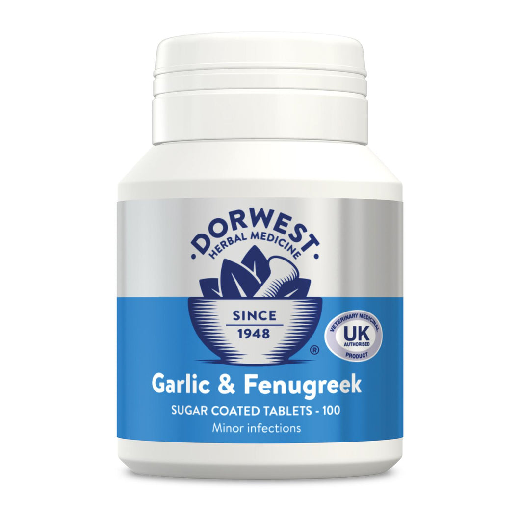 Dorwest  Garlic & Fenugreek Tablets For Dogs And Cats