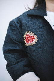Love Lockdown Quilted Bomber