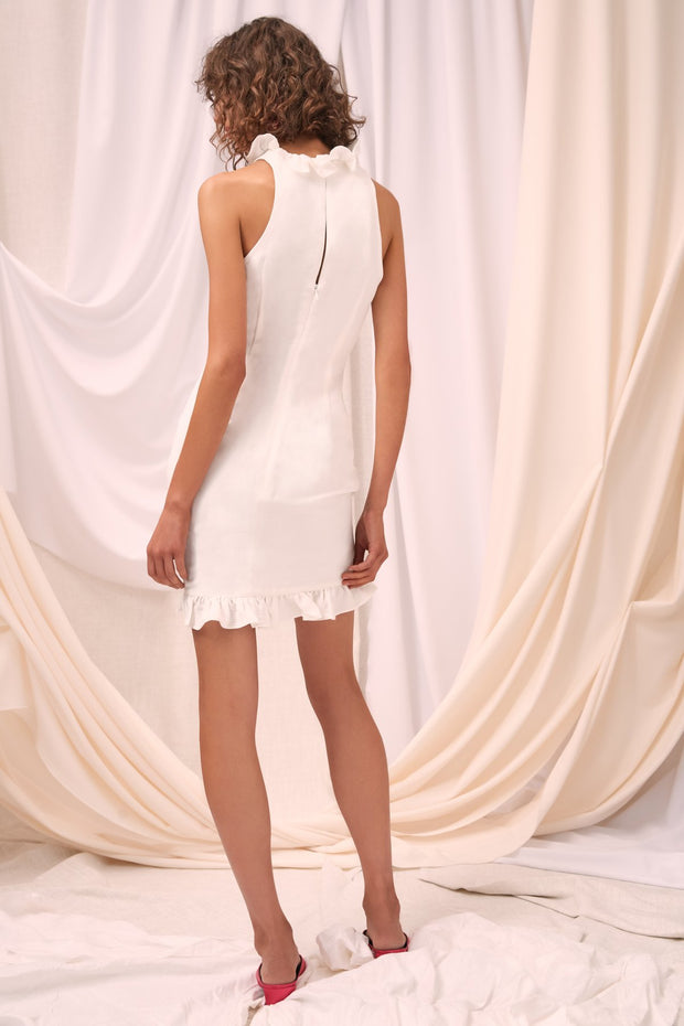 Forgive Short Sleeve Dress Ivory