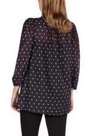 In the Fog Chiffon Blouse