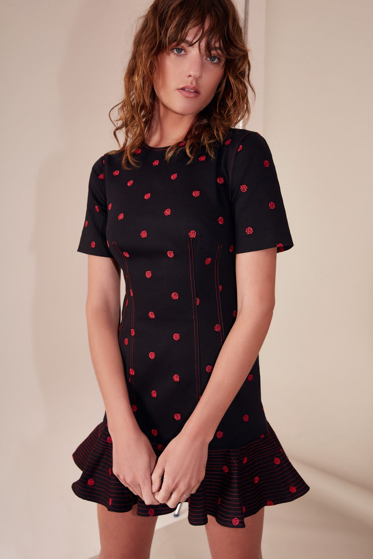 HARMONIOUS SHORT SLEEVE DRESS