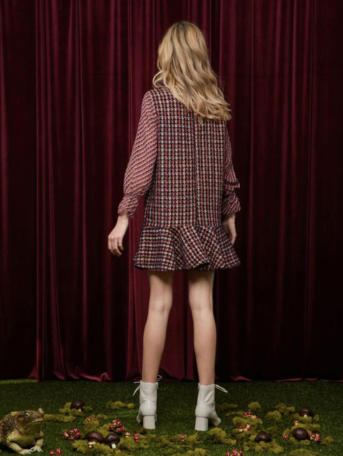 Candy Apple Tweed Dress