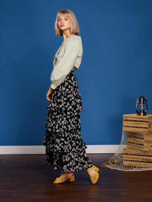 Whisper Wind Midi Skirt