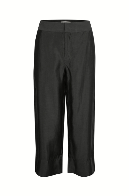Black silk Culottes