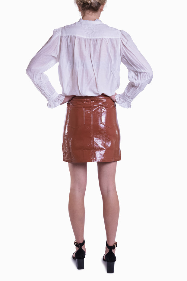 Teakwood Vinyl Skirt