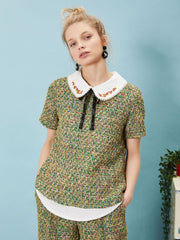 Cut Your Mosses Oyster Blouse