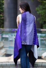 Silk Fusion Cloak Online in Purple and Black