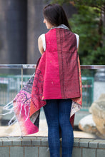 Silk Fusion Cloak Online in Red and White Color