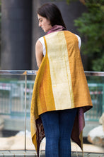 Silk Fusion Cloak Online in Maroon and Mustard
