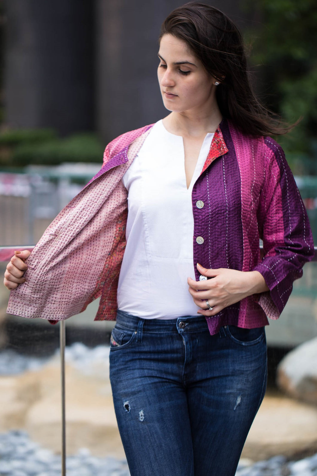 Statement Blazer: Fusion Fun: Pink (M)