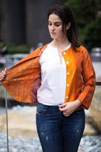 Statement Blazer: Fusion Fun: Orange (M)