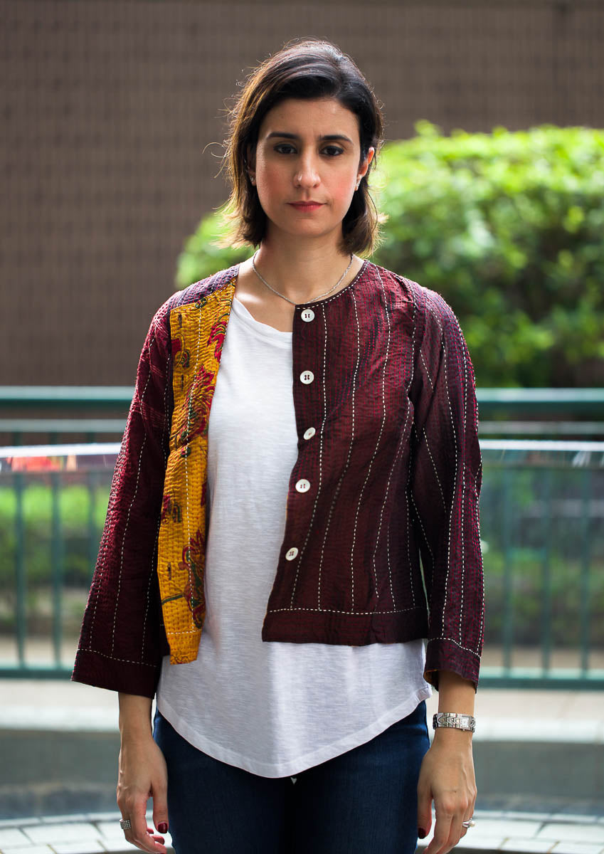 Statement Blazer: Fusion Fun: Berry & Mustard