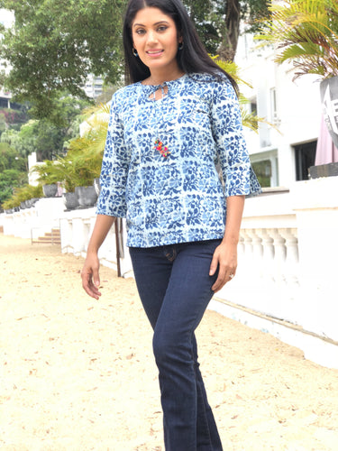 Iris Blouse | Indigo bunch