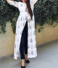 Block Print Cape White Dress