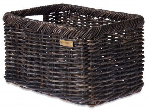Tranportfiets Basket 47L Dark Brown