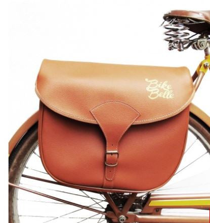 old school trendy double panier for bicycle