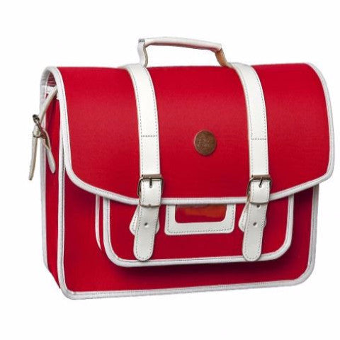 Stylish Red Bike Pannier Satchel