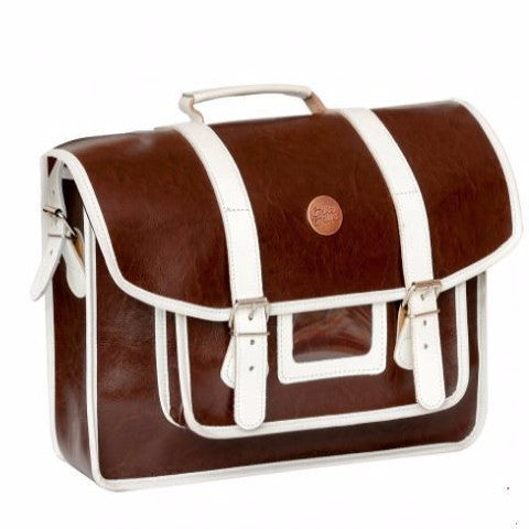 CRACOVIE BROWN: Old School Bike Satchel