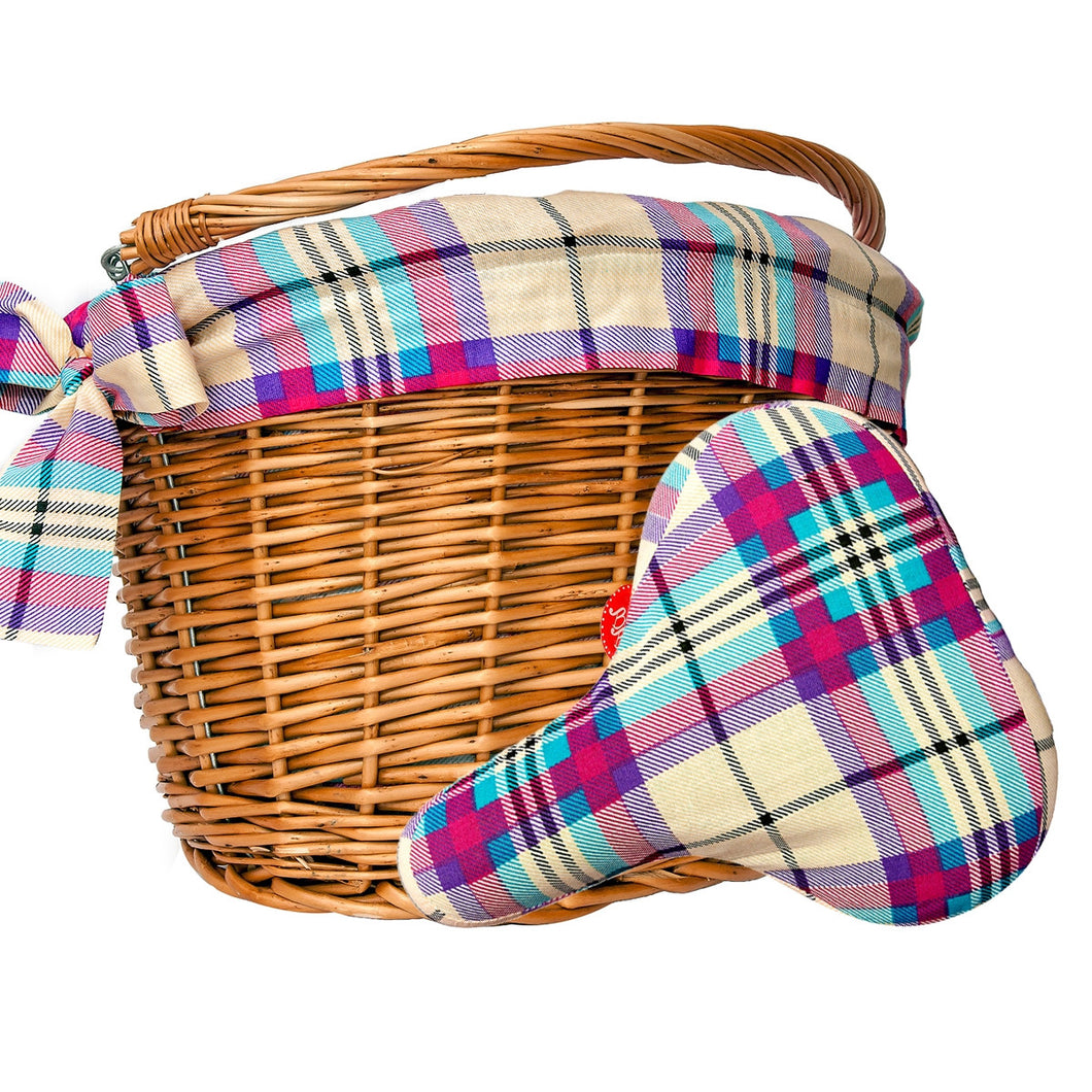 plaid print cycling accessories