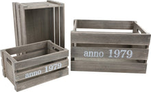 Set of Wooden Boxes - Shabby Chic Grey
