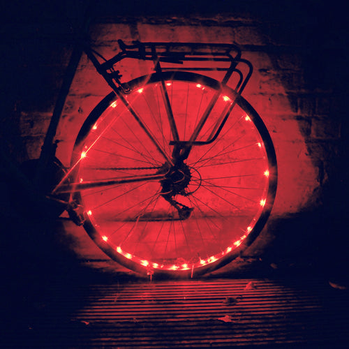Rear Red Wheel Spokes Light for bicycle