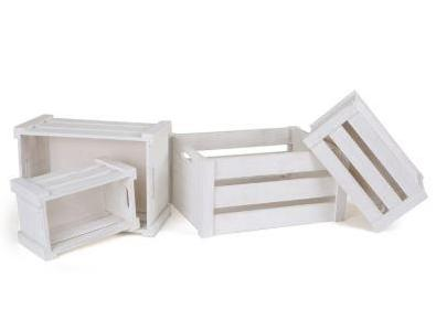 Set of Wooden Boxes - White