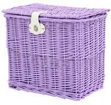 bicycle basket willow front 25.5 litres of purple