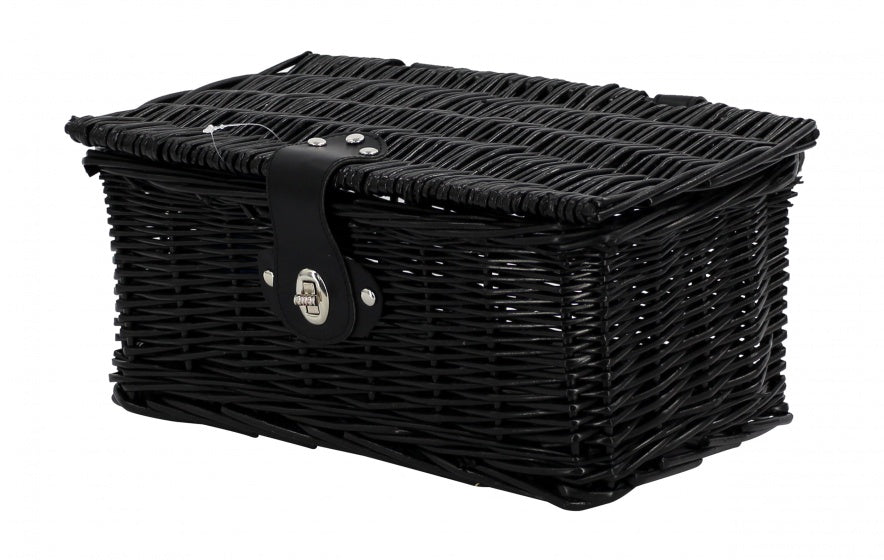bicycle basket willow front 6.5 litres black